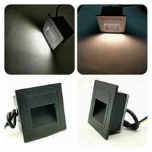 Square Stairs Aisle Corridor Sidewall Light Outdoor Waterproof LED Foot Lights Embedded Wall Step