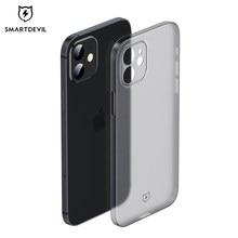 SmartDevil – coque de téléphone pour iPhone 12 Pro Max, étui Ultra-mince givré avec protection d'écran en verre trempé, coque souple