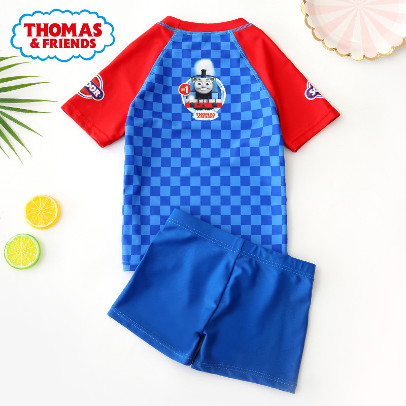 Thomas KID'S Swimwear BOY'S Split Type Swimming Trunks Swimwear Child Baby Boy Cute Cartoon Sun-resistant Middle And Large