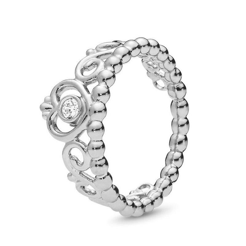 Кольцо на палец в форме сердечко серебряного цвета для женщин, европейская оригинальная Корона, изящные кольца на палец, свадебные украшения, 50 стилей, Прямая поставка