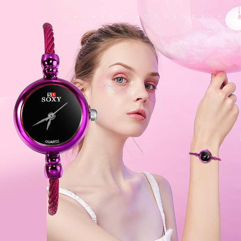 SOXY Top Brand Watches Women Bracelet Quartz Watch Woman Dress Watches Female Clock Ladies Time Elegant Hours Zegarek Damski D7
