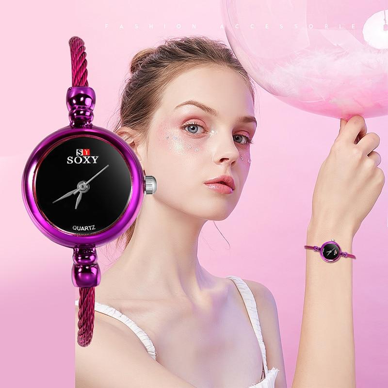 SOXY Top Brand Watches Women Bracelet Quartz Watch Woman Dress Watches Female Clock Ladies Time Elegant Hours Zegarek Damski D7