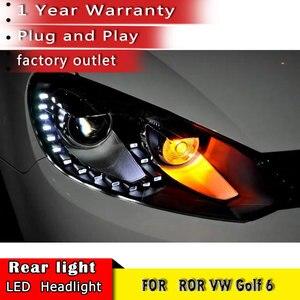 Image 4 - Car Styling 2010 2013 for VW Golf 6 Headlights  Volkswagen Golf LED Headlight DRL Bi Xenon Lens High Low Beam Parking Fog Lamp