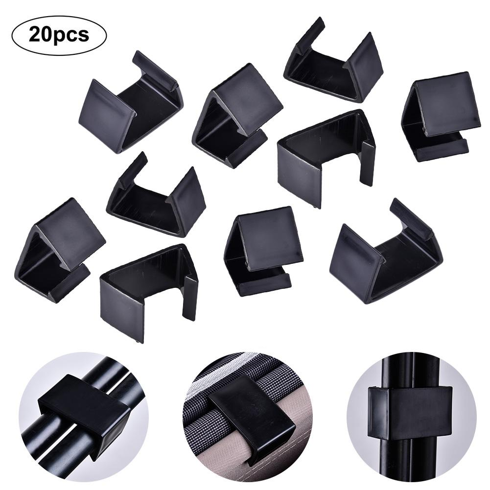 Pack Of 20 Patio Wicker Outdoor Furniture Sectional Sofa Alignment Fasteners Clips Clamps Connectors - Middle And Large Size