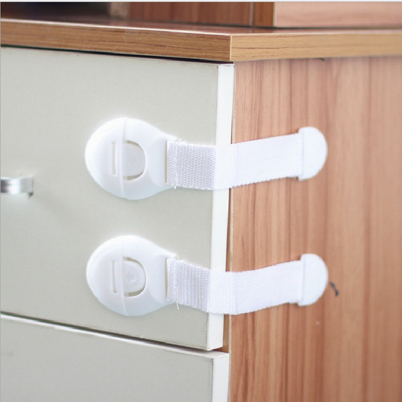 10 Pcs/lot Child Protection Baby Safety Plastic Child Lock Infant Security Door Stopper Castle Drawer Cabinet Toilet Safety Lock