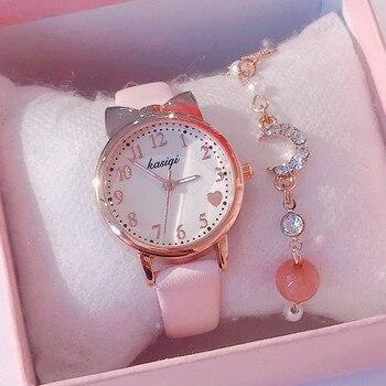 Card Captor Sakura Sailor Moon Star Girlfriends Cute Cartoon Girls Bracelet Watch Set Women Watches 2020 - sale item Women's Watches