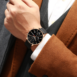 Image 5 - Mens Watches CURREN Fashion Quartz Wristwatch for Men Classic Chronograph Clock Casual Sport  Watch Waterproof Relogio Homem
