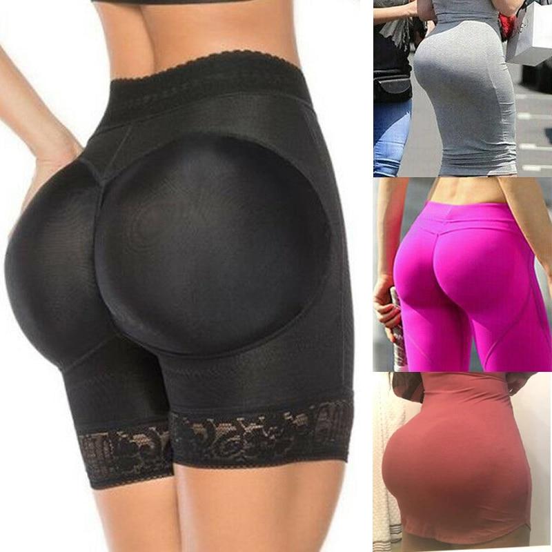 Padded Panties Enhancer Butt-Lifter Booty-Pad Body-Shapers Ass Trainer Boyshorts Underwear Women