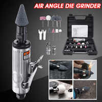 Becornce 1/4 エアーアングルダイグラインダー空気圧研削盤ミニ Poratble ツール遮断ポリッシャーミル彫刻ツールセット