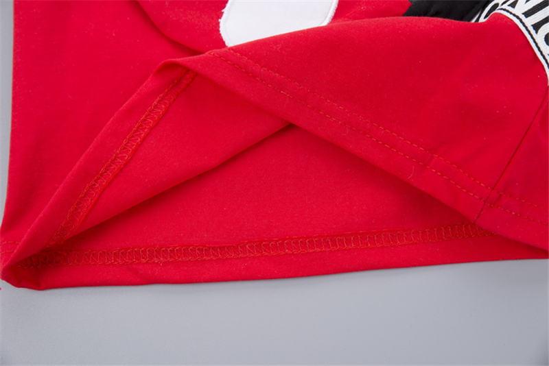 roupas de algodão esporte com saco t