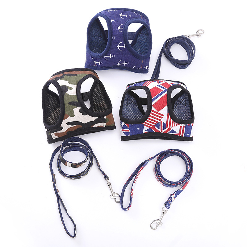 New Style Dog Supplies Pet Traction Suspender Strap Dog Canvas Chest Suspender Strap Fashion Dog Chest Strap Wholesale