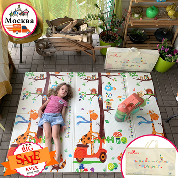 Miamumi Foldable Baby Play Mat Gym Mat Tapete Infantil Kids Rug Activity Foam Mat Baby Crawling Mat Kid Play Safety Bear XPE Rug