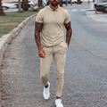 2021 летняя уличная модная зимняя верхняя одежда из 2 х предметов, набор для мужчин с коротким рукавом топы и брюки на завязке; Костюмы в африка...