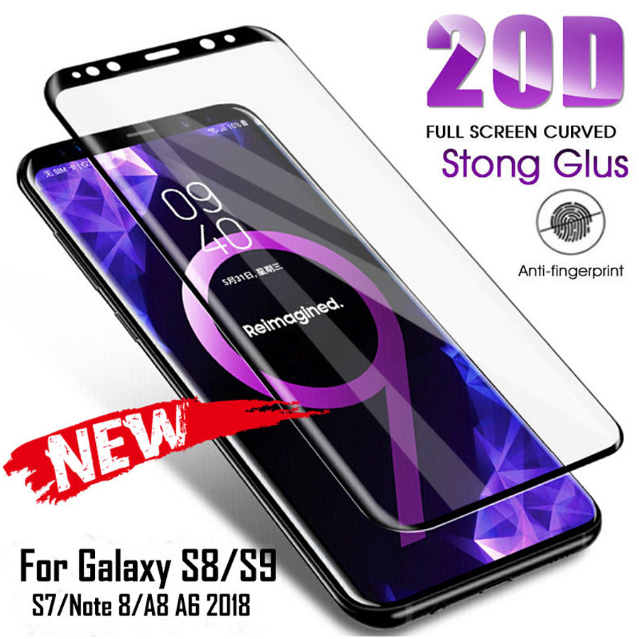Curved Full <font><b>Cover</b></font> Tempered Glass For <font><b>Samsung</b></font> Galaxy S20 <font><b>S10</b></font> S8 S9 <font><b>Screen</b></font> Protector Film For Galaxy Note 10 9 8 Protective Glas image