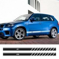 2PCS Auto Aufkleber Auto Tür Seite Rock Aufkleber Für BMW X5 E70 E53 F15 X3 F25 E83 X6 F16 e71 X1 F48 E84 X2 X4 F26 X7 Zubehör-in Autoaufkleber aus Kraftfahrzeuge und Motorräder bei