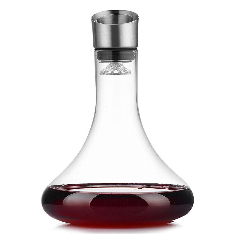 Red Wine Decanter Crystal Wine Pourer Vivid Champagne Decanter Pourer Breath Quickly Decanter