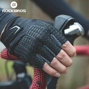 Image 5 - ROCKBROS gants de cyclisme pour hommes, avec enflure de la moitié des doigts, antidérapants, accessoires de sport, vtt, Fitness ou faire du Gym, collection VTT
