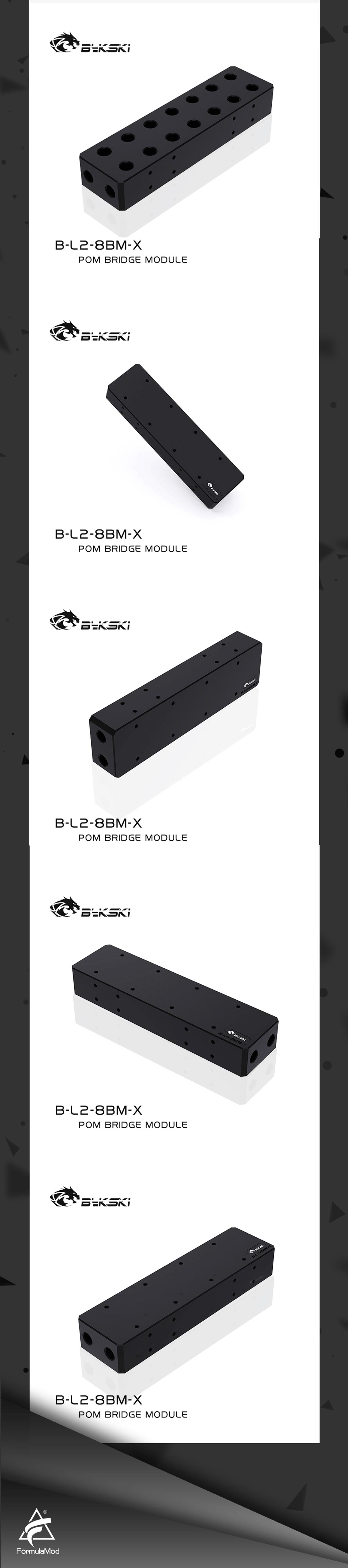 Bykski B-L2-8BM-X GPU Terminal Block for Computer Graphics Card Water Cooling Block Bridging Module Adapter POM Connectors