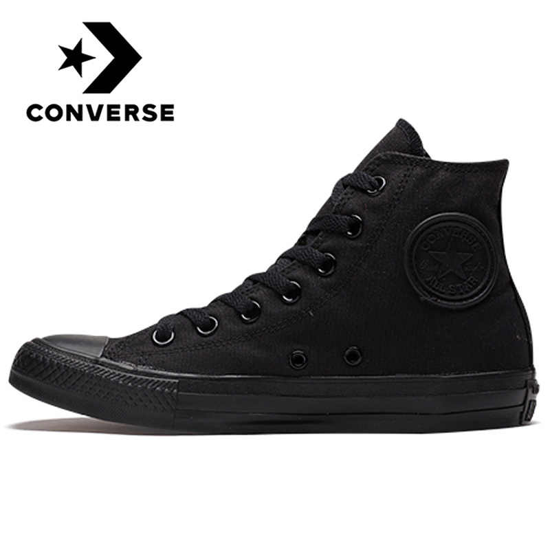 Converse All Star Skateboarding Shoes for Men Women Original Classic Canvas High Top Sneakers Sports Outdoor Shoes Black 1Z588