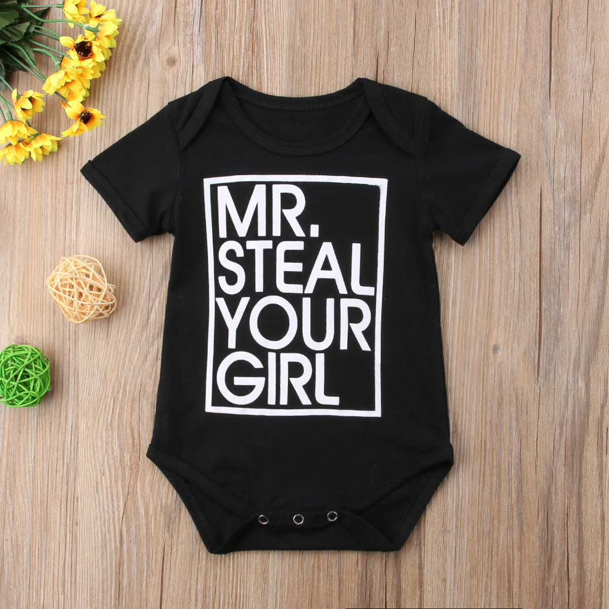 New Style Childrenswear Baby Short Sleeved Kazakhstan Baby Men And Women Children Printed Lettered Triangle Jumpsuit