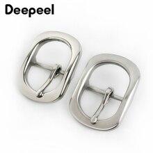 Deepeel 1pcs Stainless Steel Pin Belt Buckle for 28-30mm Men Women DIY Leathercraft Hardware Metal Jeans Belts Accessories BD333