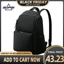 Bopai mochila feminina 2020 novo 14 Polegada computador saco de negócios à prova dwaterproof água escola mochilas bagpack escola sacos adolescente