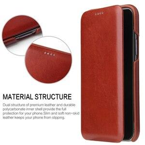 Image 3 - 아이폰 11 12 프로 맥스 정품 가죽 플립 케이스 아이폰 6 6S 7 8 X Xs XR XS 최대 SE 2020 자석 커버