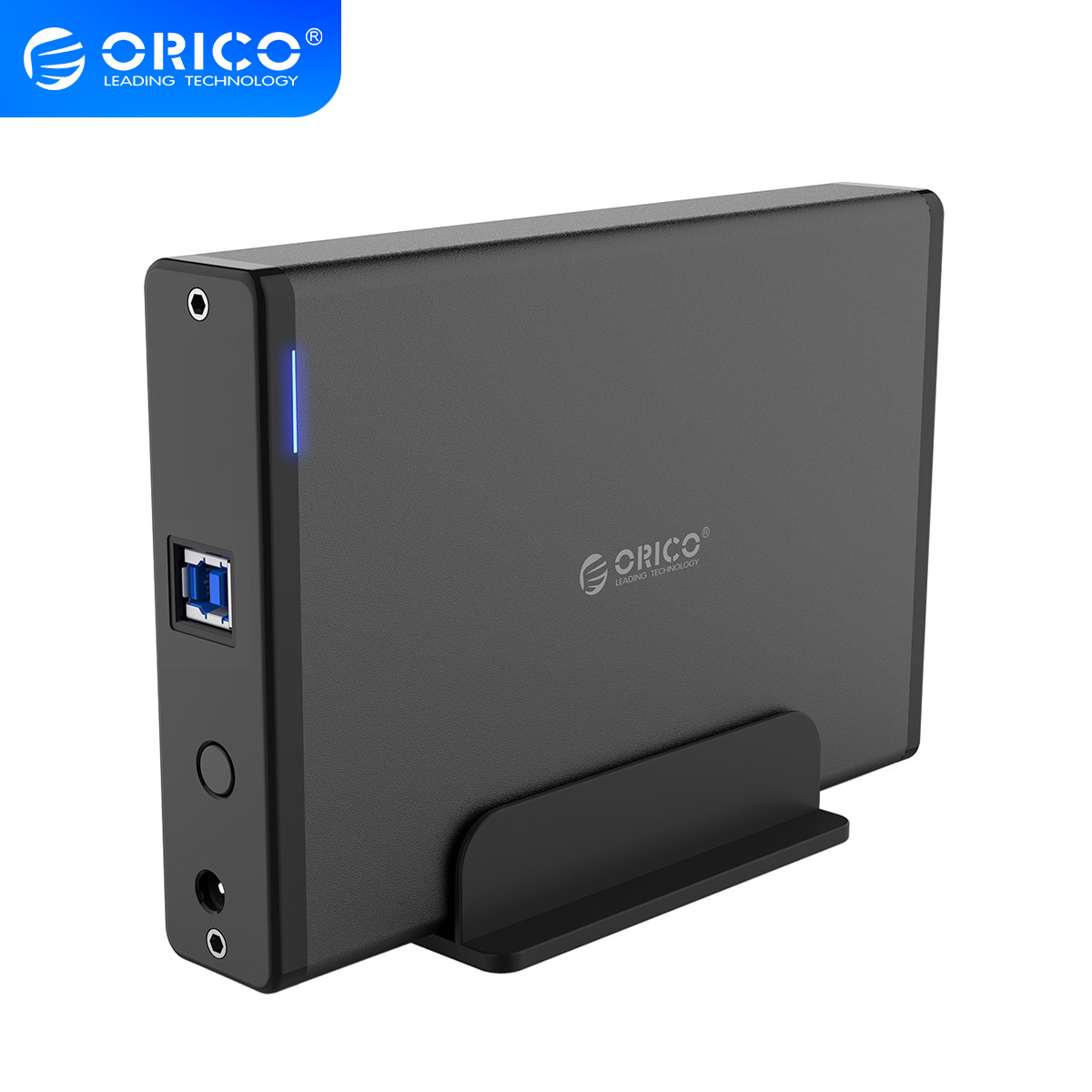 ORICO Aluminum Hard Drive HDD Enclosure USB3 0 to SATA3 0 3 5 inch HDD Case Docking Station Support UASP 12V2A Power