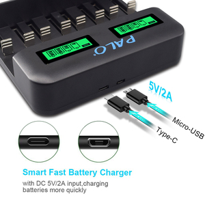 Image 3 - PALO Quick charger with LCD Display Smart Screen Battery Charger For 1.2v Ni MH NI CD AA/AAA/SC/C/D Size Batteries Rechargeable