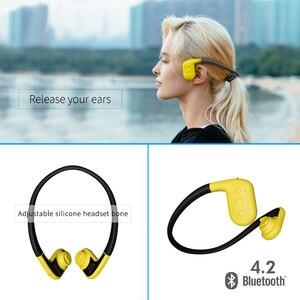 Image 3 - Tayogo W02 Schwimmen Knochen leitung Kopfhörer Bluetooth Headset Handfree Handphone mit FM Pedo Meter IPX8 Wasserdichte MP3 Player