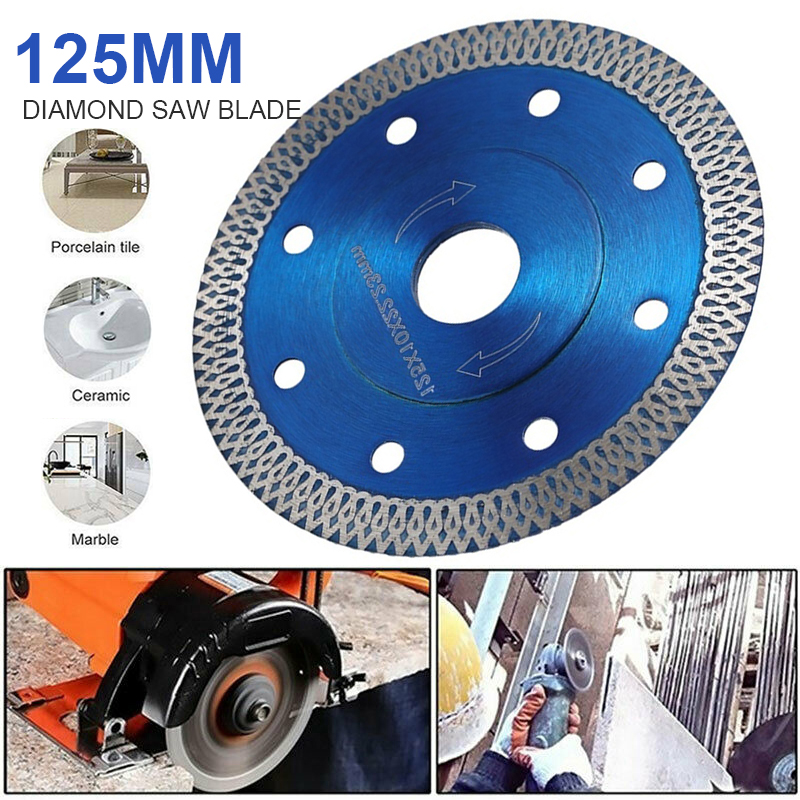 Porcelain Diamond Saw Blade 125mm Diamond Saw Blade For Porcelain Tile Ceramic Cutting More Efficient Fast And Stable In Cutting