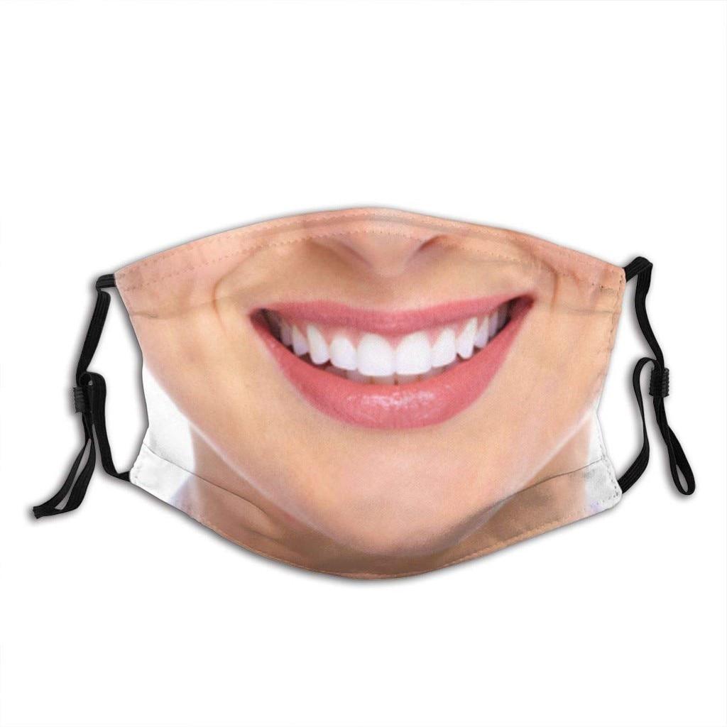 Casquettes de bouche respirantes imprimées drôles masque facial réutilisable masque facial lavable masque facial en tissu mascarillas pour adultes