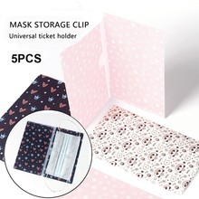 Clip Folder Mask-Storage Face-Masks Organizer Mascarillas Keeper Boxcaja Guardar Portable