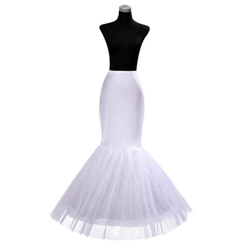 YULUOSHA Bride Wedding Crinoline Petticoat A-line Slips Long Underskirt Fishtail Vintage Petticoats Underskirt Vestido De Noiva