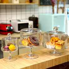 European Glass Storage Jars with Lid Transparent Candy Jar Tall Feet Fruit Dessert Table Simplicity Home Decoration Ornaments
