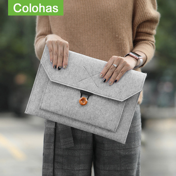 Hot Felt Sleeve Laptop Bag 15.6 14.1 Case for Macbook Air 13 Pro 11 12 New 15 Touch Bar for Xiaomi Mi Notebook 13.3 Cover
