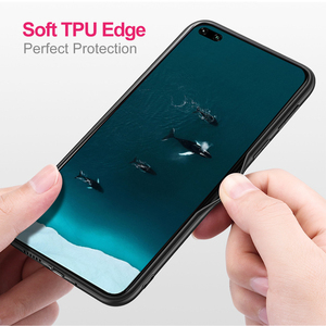 Image 3 - for Honor V30 Case V30Pro Cover for Huawei V30 Pro Case MOFi Silicone Shockproof Glass Capa PU Leather Coque