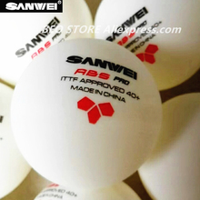 60 balls SANWEI Table Tennis Ball 3-star ABS 40+ PRO seamed New material plastic poly ITTF Approved ping pong tenis de mesa