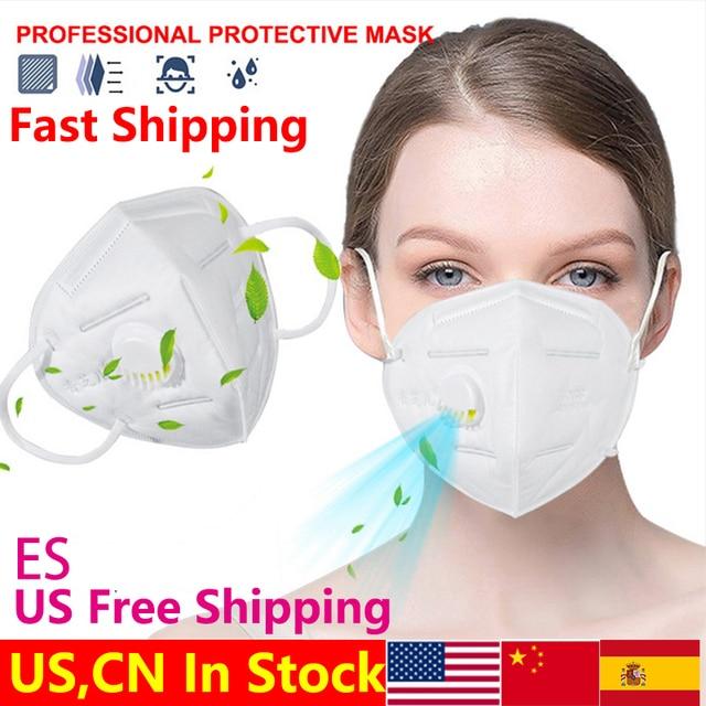 5 שכבות KN95 שסתום מסכת מסכת הגנת FFP2 מסכות סינון פה כיסוי אנטי אבק זיהום FFP3 פנים מסכה