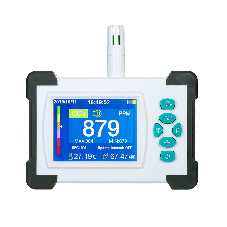 CO2 метр тестер для углекислого газа Датчик качества воздуха для контроля уровня сахара в крови с Перезаряжаемые Батарея Портативный co2 дете...