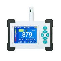 Medidor de co2 testador para dióxido carbono detector qualidade do ar monitor com bateria recarregável portátil detector co2