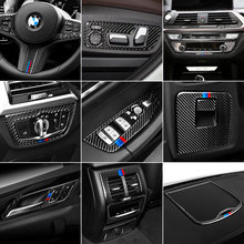 Car Interior Decoration Moulding M Performance Carbon Fiber Air condition CD Control Panel Sticker For BMW G01 G08 G02 X3 X4
