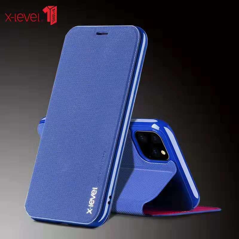 X-Ebene Ultra Dünne Leder Flip Telefon Fall Für iPhone 6 8 7 Plus Ständer Halter Protectiv Abdeckung Für iPhone X XS iPhone 11 Pro Max