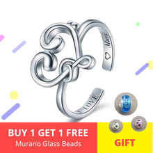 Luxury Musical Symbol Ring Authentic 925 Sterling Silver Heart Adjustable Open Ring Women Sterling Silver Jewelry Gift strollgirl authentic 925 sterling silver infinite heart shape ring adjustable open rings luxury sterling silver jewelry 2019