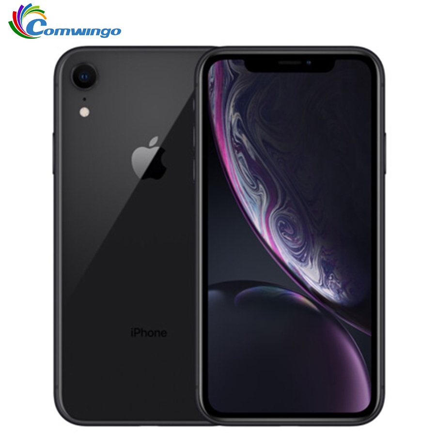"Original apple iphone xr xr 2942 mah ram 3 gb rom 64 gb/128 gb/256g desbloqueado celular 4g lte 6.1 ""hexa-core 12mp & 7mp 2018"