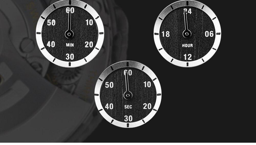 mãos data automática relógios cronógrafo relógios de