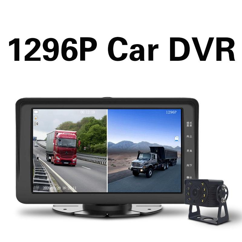 Dash cam dvr auto kamera recorder dashcam kamera kamera samochodowa kamera de recul voiture 1296P Dual screen aufnahme QXNY