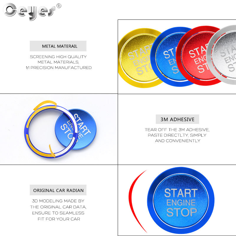 Car Start Engine Button Key Ring for ALFA ROMEO (8)