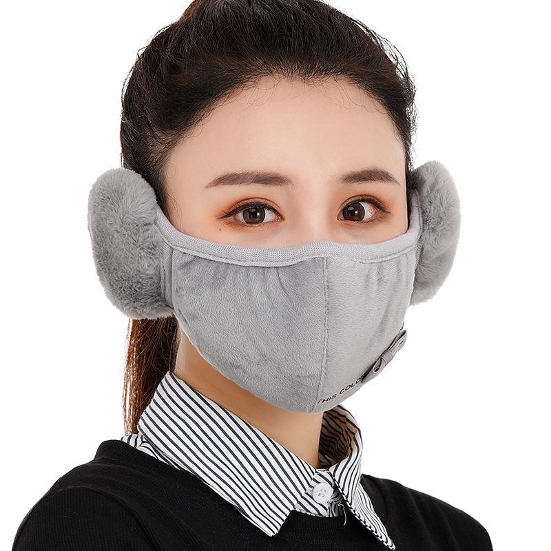 Two-in-one Mask Warm Earmuffs Female Earmuffs Face Mask Riding Windproof Winter