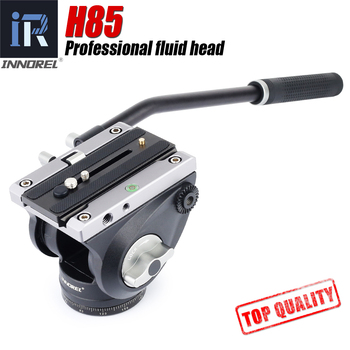 INNOREL H85 Video fluid heads SLR camera hydraulic damping Manfrotto panoramic video tripod head f60 f80 video fluid head panoramic hydraulic dslr camera tripod head for monopod slider adjustable handle manfrotto q r plate